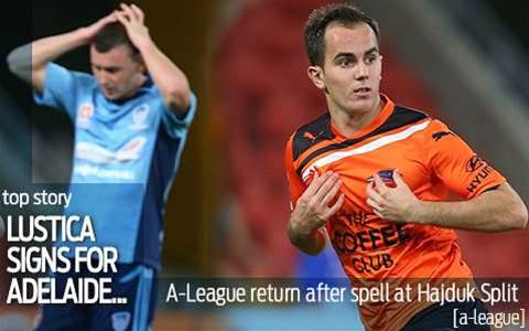 Lustica signs for Adelaide