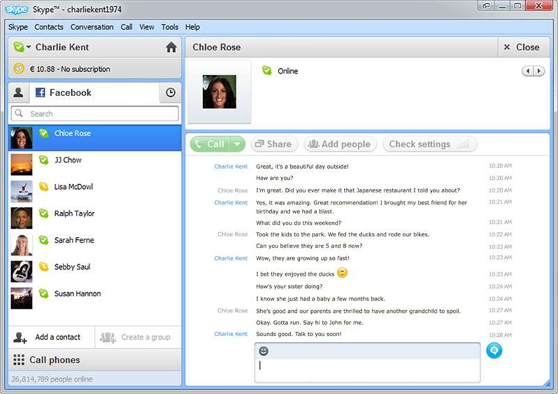 Skype Beta updated, adds Facebook video calling and group screen sharing