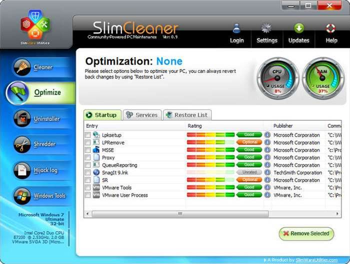 SlimCleaner: a PC maintenance suite which actually delivers?