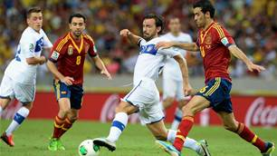 Spain versus Italy to go ahead
