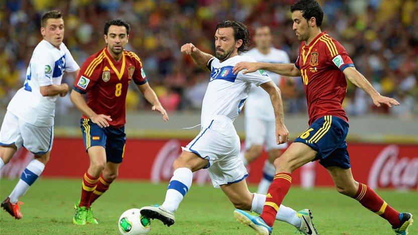 Spain versus Italy to go ahead