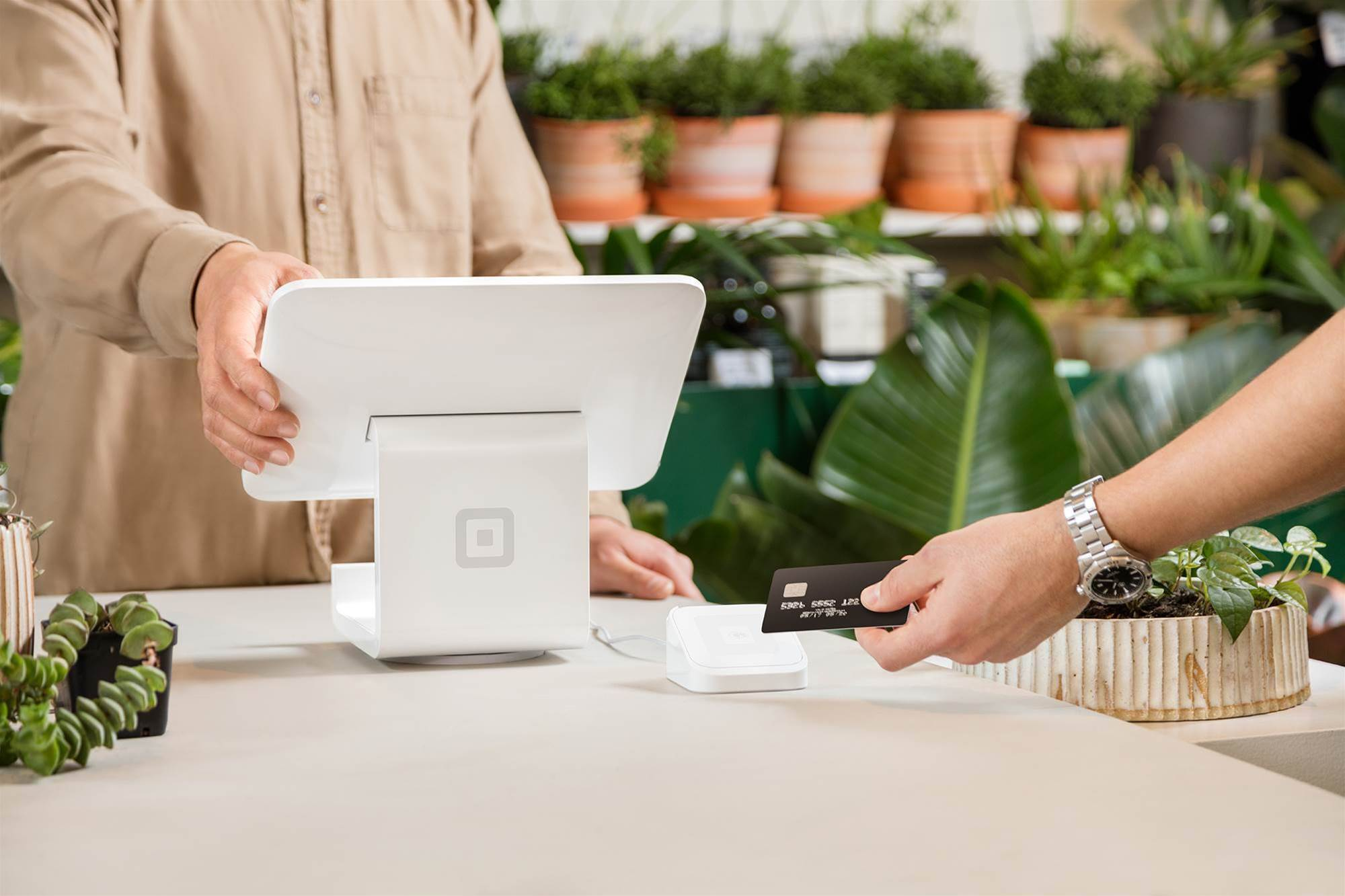 The Square Stand makes counter-top payments easier