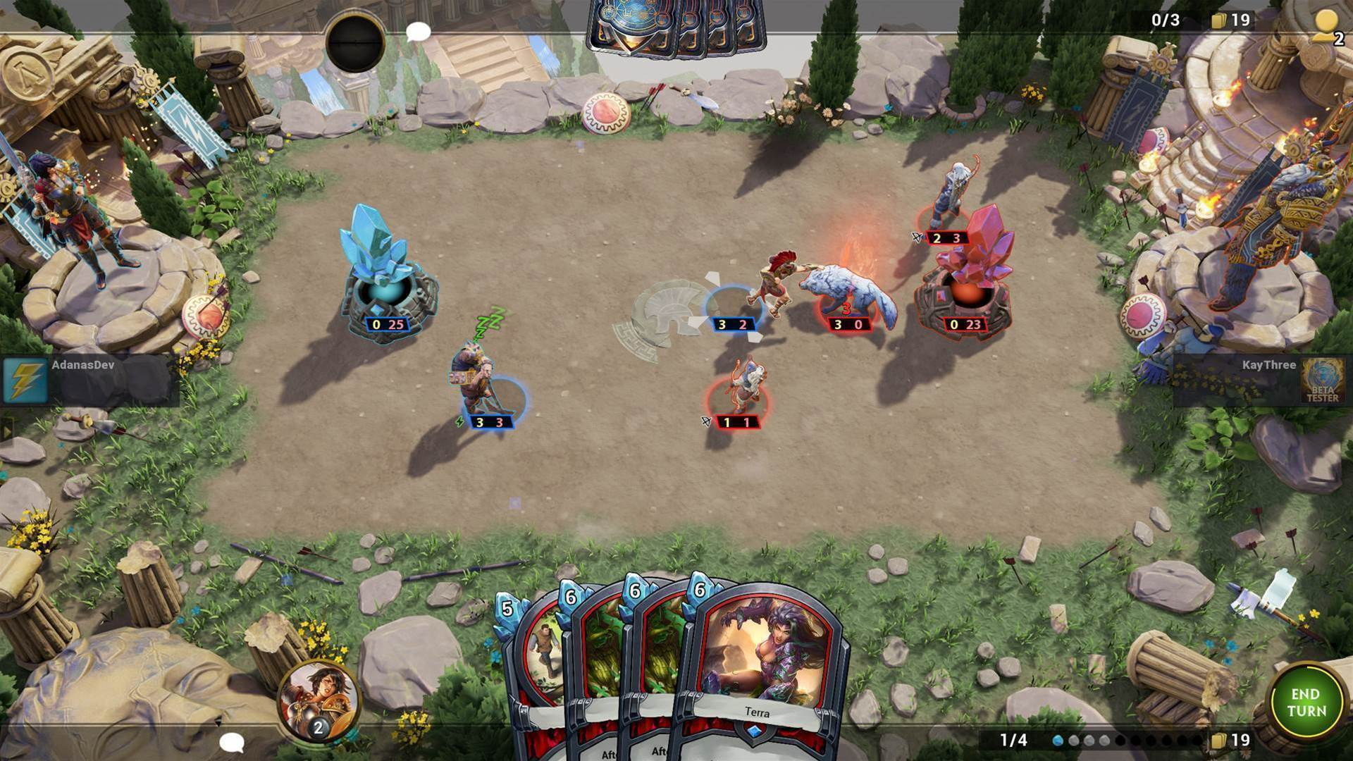 Hand of the Gods: SMITE Tactics on Steam early access now