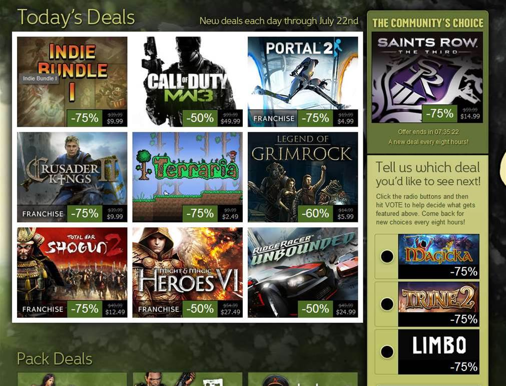 Steam's Summer Sale kicks off for 2012
