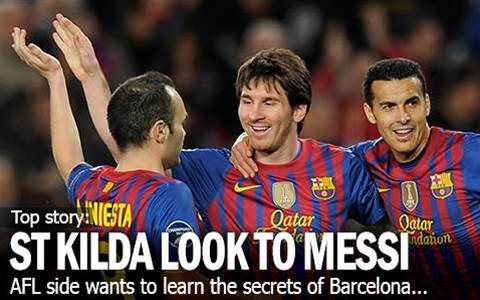 St Kilda Turn To Messi For Barca Secrets
