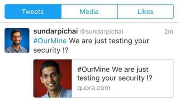 Google boss suffers social media hack