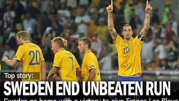 Sweden End France's Unbeaten Run