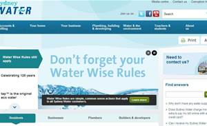 Sydney Water pours 4.5 percent of IT budget into website