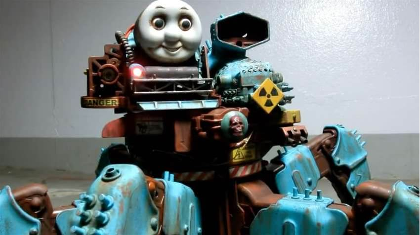 A Walking Thomas The Former Tank Engine Is A Nightmare Before Christmas