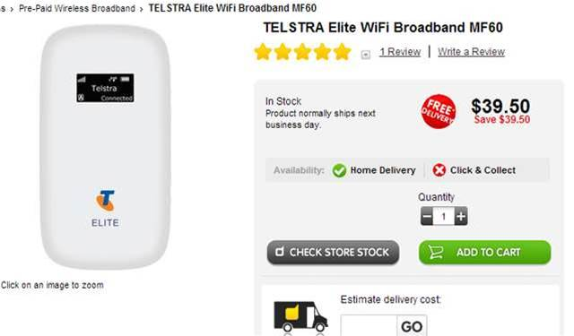 Deal spotted: Get Telstra's Elite Mobile Wi-Fi Hotspot for half price