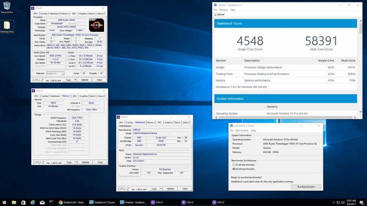 AMD's Threadripper 1950X clocked at 4.1GHz on liquid