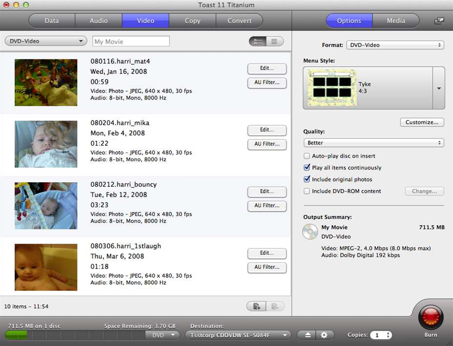 Roxio Toast Titanium 11.1 adds full Mountain Lion compatibility, web-video improvements