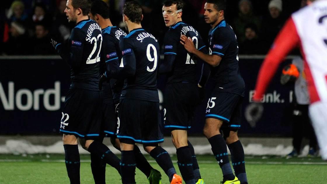 Europa: Spurs, Genk, Valencia and Rubin go top