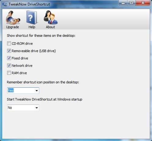 TweakNow DriveShortcut brings removable disc shortcut creation to the Windows desktop