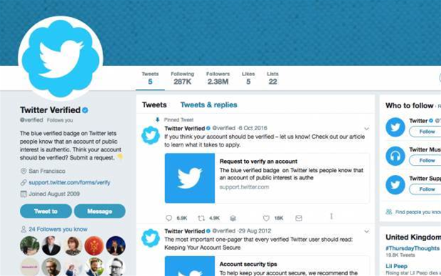 Twitter gets in a muddle over its verified blue ticks