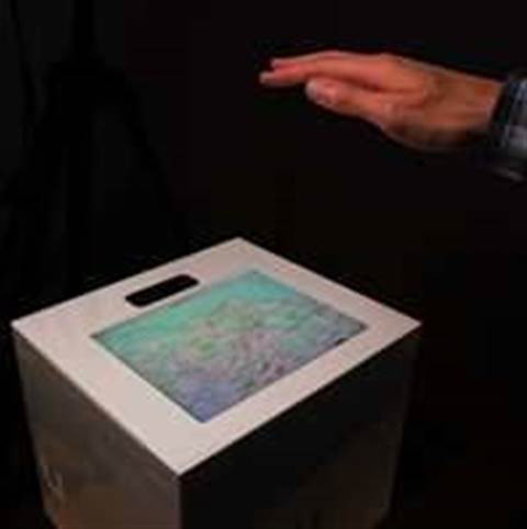 Researchers create mid-air tactile feedback for screens