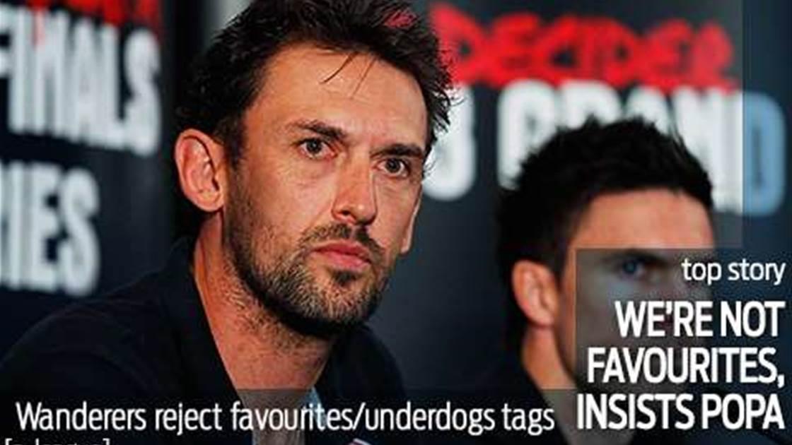 Popovic shrugs off favourites tag