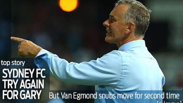 Van Egmond Snubs Sydney Offer
