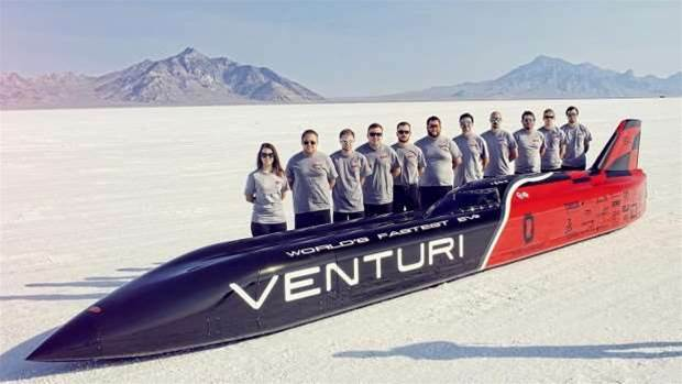 Venturi VBB3 'Bullet car' hits 341mph and smashes electric land speed record