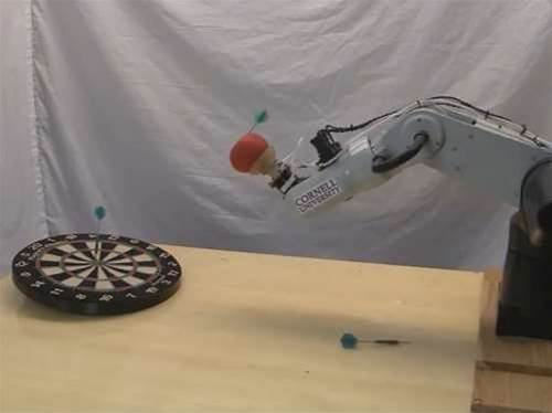 Viral of the week: Darts-playing robot arm