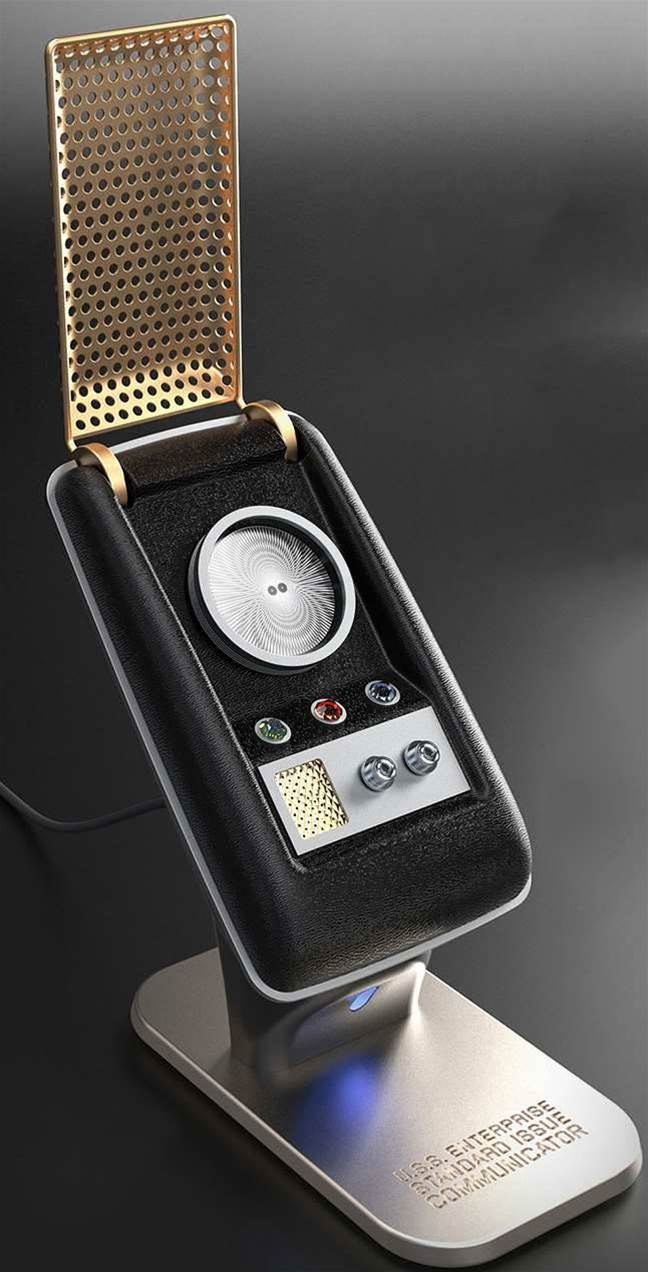 I may need this Bluetooth Star Trek communicator to live