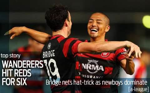 Wanderers hammer the Reds for six
