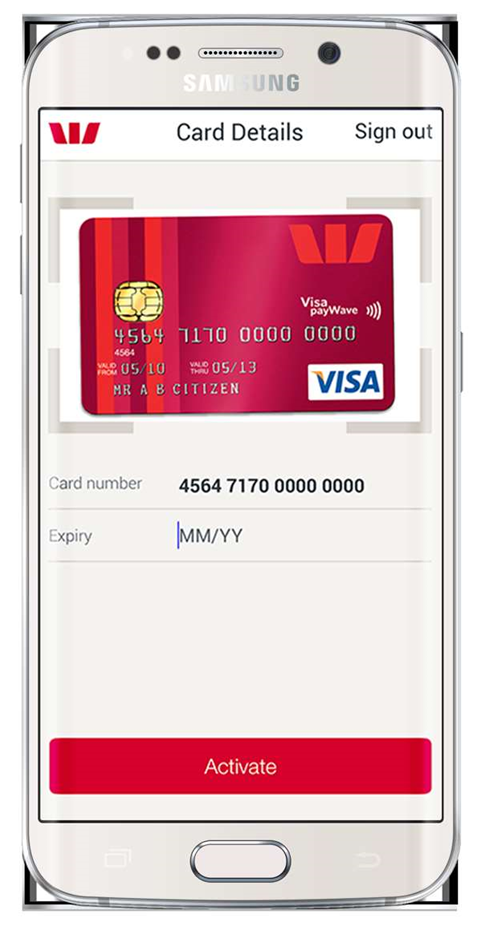 Westpac lets your smartphone's camera activate new bank cards
