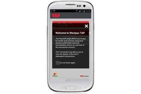 Westpac trials contactless mobile payments