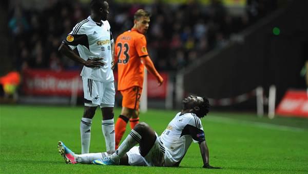 Bony blow deepens Swansea striker crisis
