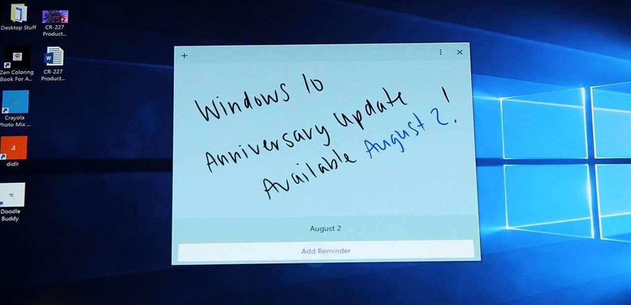 Windows 10 Anniversary Update coming soon