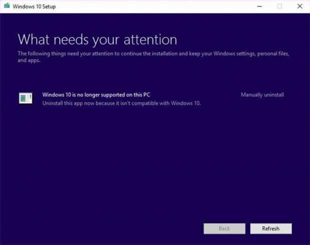 Older PCs get cut from Windows 10 support