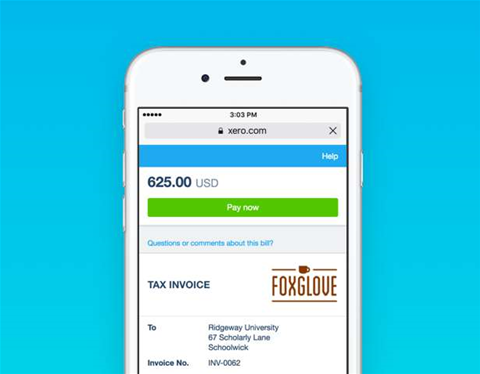 Xero's online invoices now mobile friendly