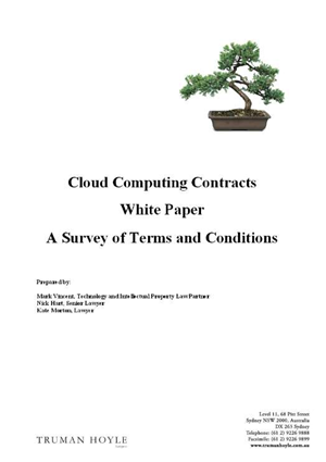 Cloud cover: Dissecting cloud computing contracts (2011)