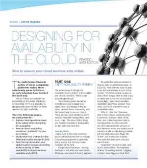 Designing for Availability in the cloud (2013)