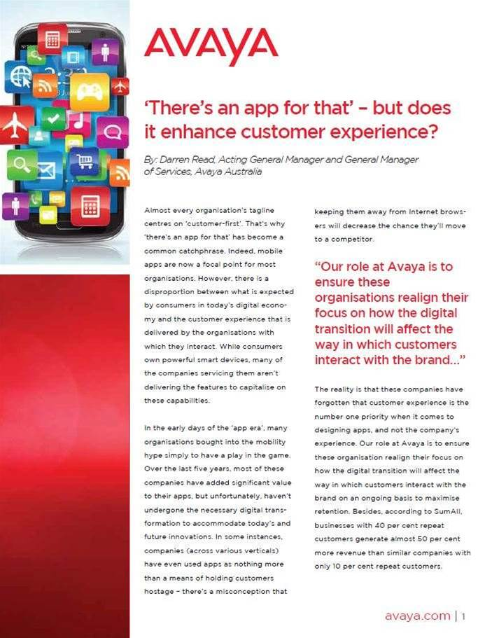 'There's an app for that' – but does it enhance customer experience?