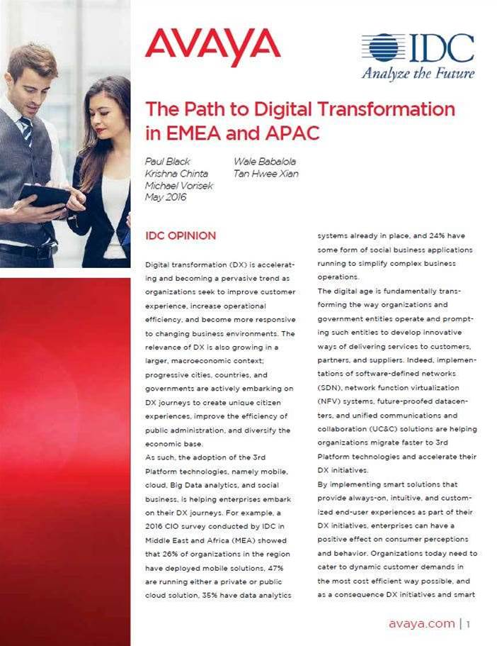 The path to digital transformation in APAC