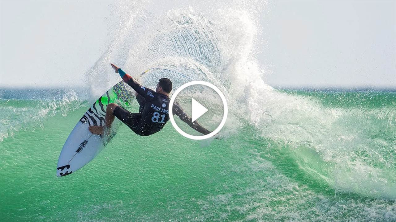 """Yeah, It Smoked Mick!"" – Parko On His Magic Hurley Pro Trestles Board"