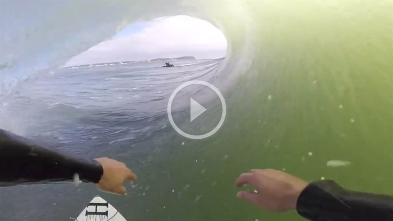 Of Course The Mad Hueys Got Tubed During The Gold Coast Swell!