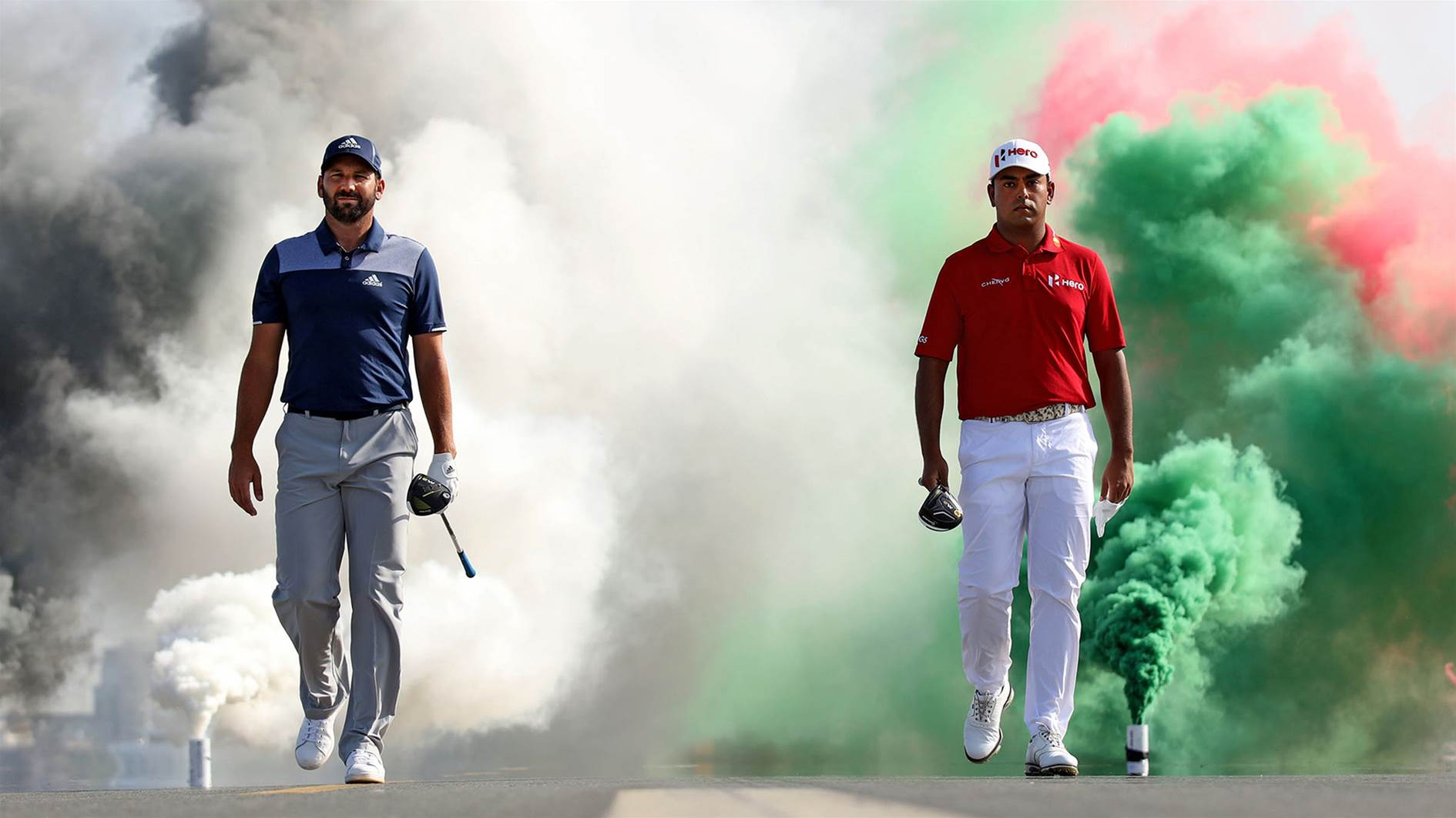 VIDEO: Sergio Garcia & Anirban Lahiri launch 600-metre drives