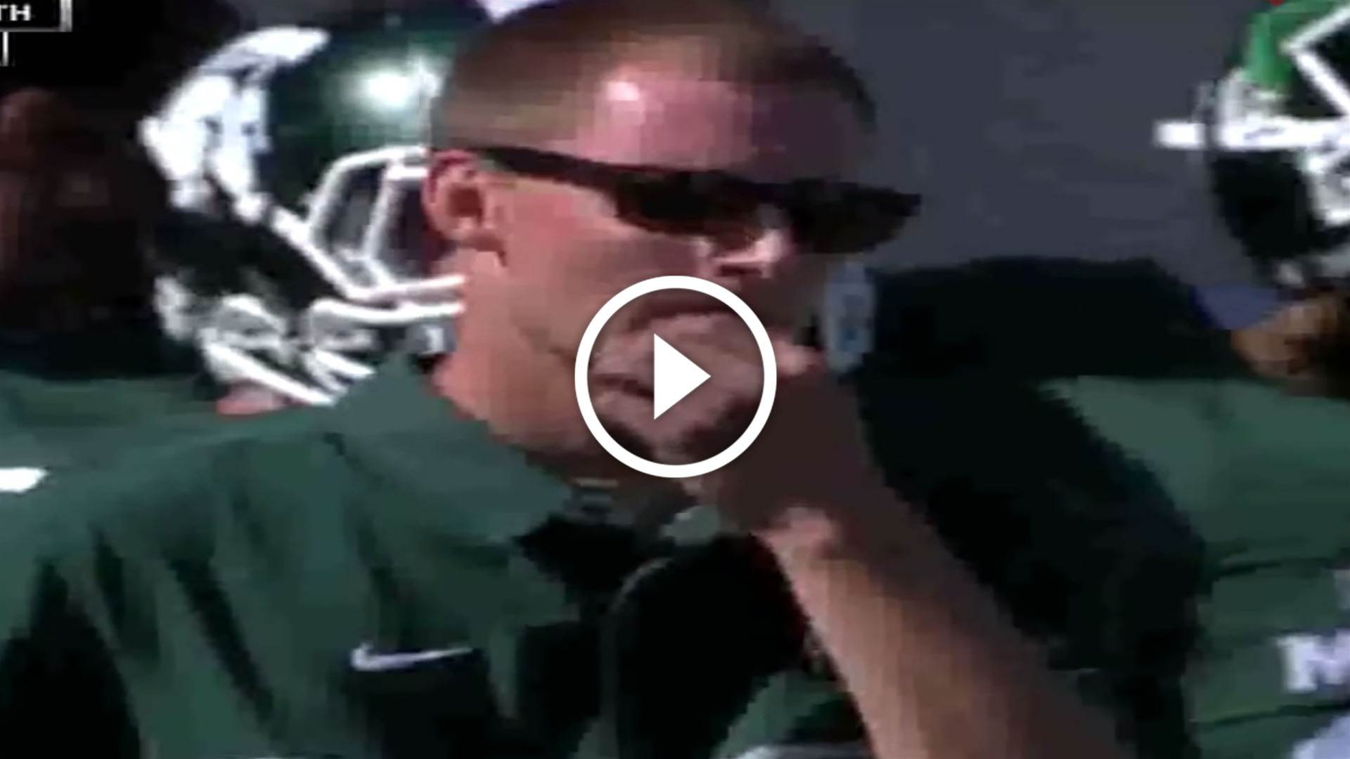 Coach vanishes on live TV