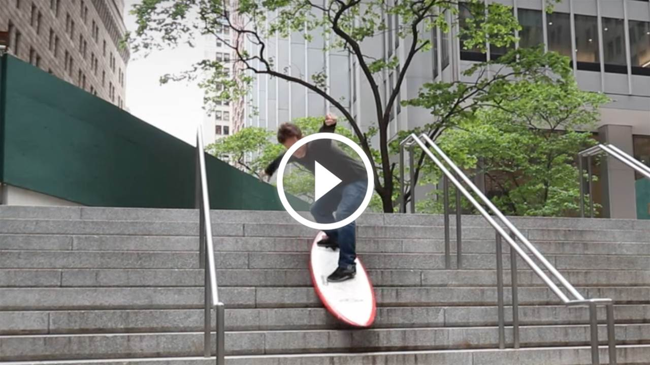 Crazy James Goes Street Surfing in New York