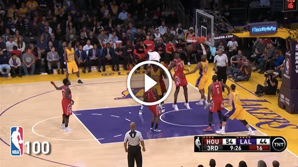 Top 100 plays of the 2016 NBA season