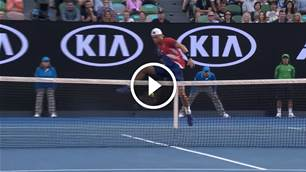 Neat! Best Aus Open trick shots...