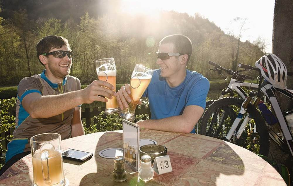 What happens to your body when you drink alcohol after a hard ride