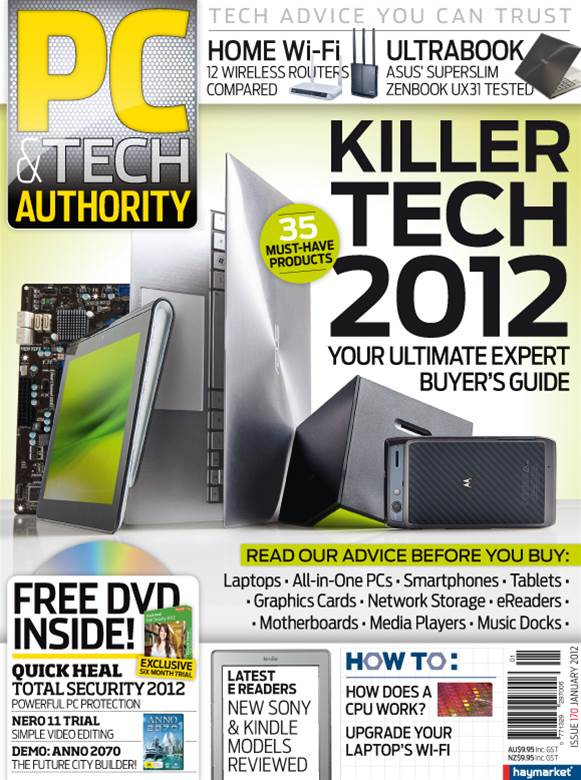 PC & Tech Authority Magazine Issue: Jan, 2012