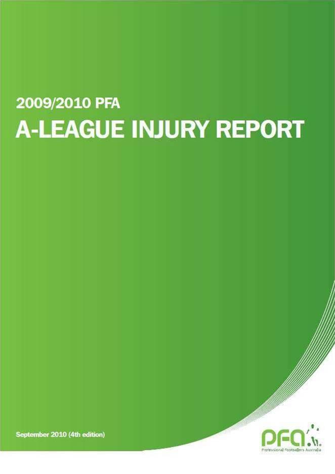 PFA Injury Report 2009/10