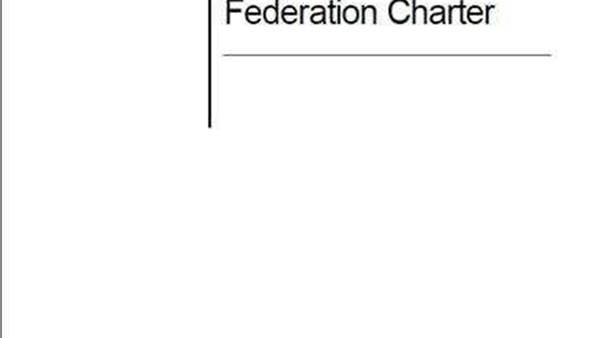 New FFA Member Federation Charter