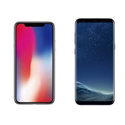Apple's iPhone X vs Samsung's Galaxy S8 Plus