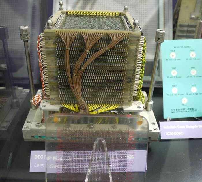 A cube of magnetic core memory is very pretty thing indeed.