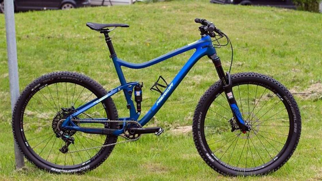 Merida launch carbon 120 trail bike